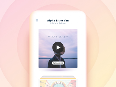 Music collection browsing concept concept interactive player audio vinyl album collection music 3d perspective carousel ios animation coverflow cover mobile app lottie swipe flick nostalgic