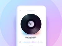 Music player interaction concept