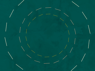 Bends geometric simple white gold yellow green texture clean modern after effects animation symmetry circle pattern line art motion design