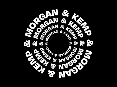 Morgan & Kemp concept 3 identity branding circle logo spin geometric simple loop circle typography minimal after effects motion design animation