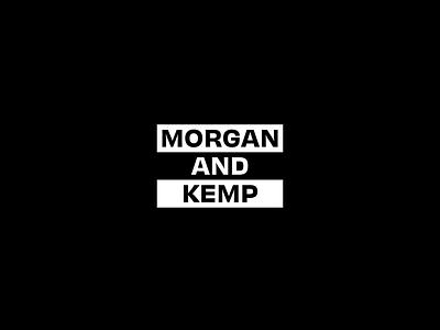 Morgan & Kemp concept 4 slide split icon logo brand identity geometric simple typography minimal after effects motion design animation