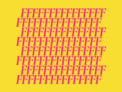 FFFFF after effects shadow layers pattern kinetic typography motion design animation serif magenta yellow pink circle loop bulge typography bold bright