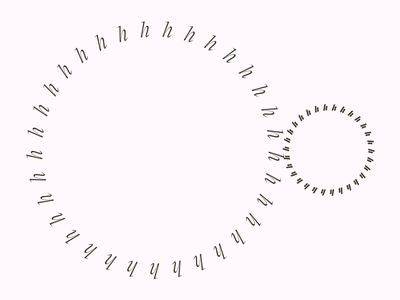 hhhhh monochrome circle geometric typography turn spin dial clockwork brown animation after effects motion design kinetic typography gear clock