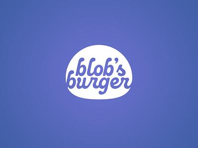 blob's burger purple blue circle curve organic geometric design slime blob typography cursive icon logo identity burger food branding