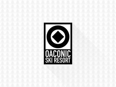 Oaconic Ski Resort initial vintage authentic geometric modern clean shadow sports mountain skiing pattern identity branding logo