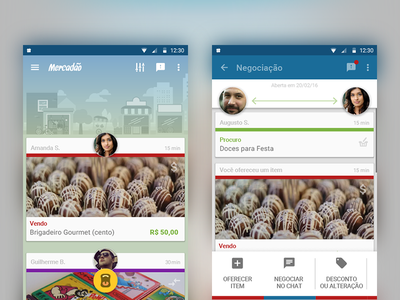 Mercadão - Local Market App material timeline negotiation geolocalization local market interface ui