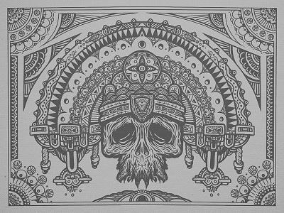 Old Gods mandala linework design illustration