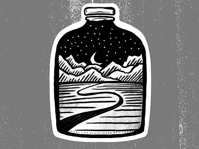 Mountain Jar style sailor skull blackletter tatttoo tattoo design vector illustration illustrator