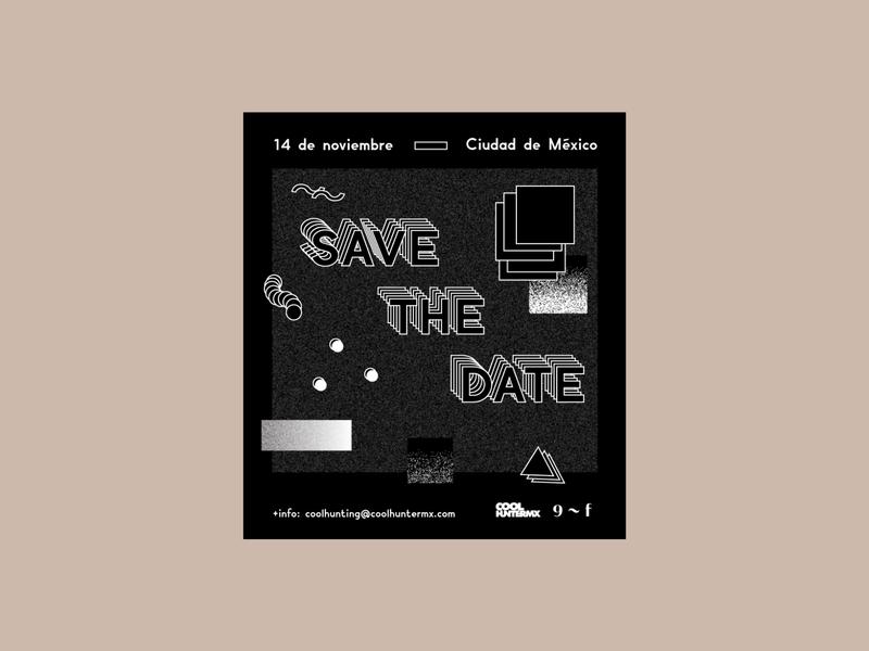 Coolhunting Seminar logo design editorial flyerdesign flyer