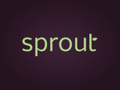 Sprout  branding typography logo