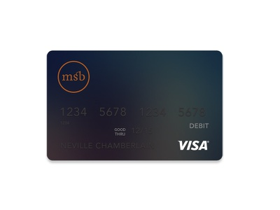 Bank Debit Card debit card branding typography investing financial banking