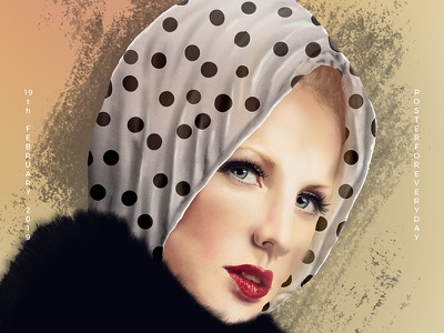 one digital painting/drawing shot face everyday 365 2018 color poster drawing woman illustration