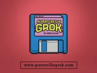 Adventures in Grok - Enamel Pin Mockup