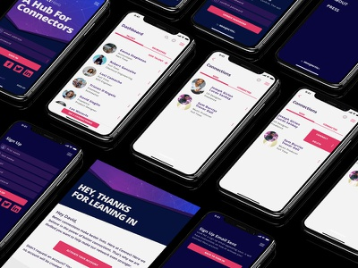 Connectors App ux user interface material app iphone x interface ui