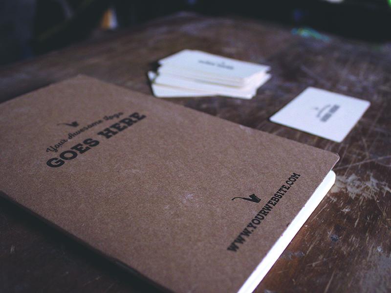 Free Journal Mockup mockup psd journal notebook cardboard vintage rustic business card freebie free