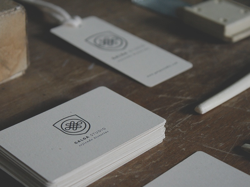 Galga studio business cards and hang tags by angelo barrientos dribbble reheart Gallery