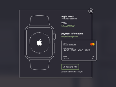 Credit Card Checkout — Daily UI challenge #002