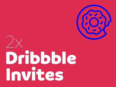 2x Dribbble Invites! donut dribbble invite invite ticket