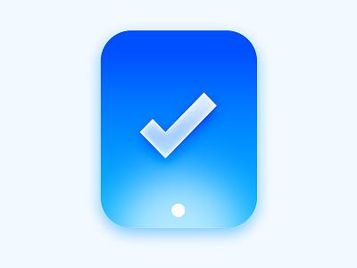 Ipad Icon ok check gradient icon ipad