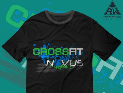 CrossFit Novus T-shirt gym illustrator vector photoshop illustration design design art creative weight lifting weightlifting fitness crossfit