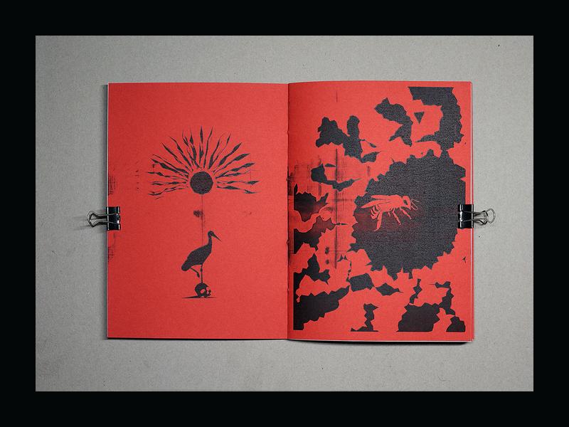 escu mag - Molдоva printmaking skull illustrator bee brutalist brutalism mag graphic design magazine zine design zine alex escu illustraion art print
