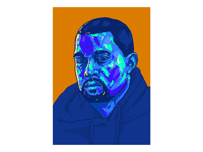 Kanye West Portrait // Visual Mixtape. rapper portrait illustration illustrator poster print minimalism art kanye west poster art portrait art kanyewest alex escu illustration