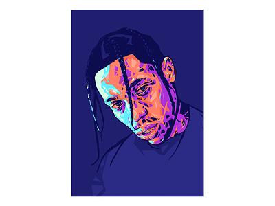 Travis Scott Portrait // Visual Mixtape. art escuarts illustrator print poster portrait art astroworld travis scott illustration alex escu