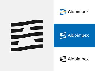 Aldoimpex // Logo design concept. monogram design vector minimalism branding alex escu logo symbol mark logotype