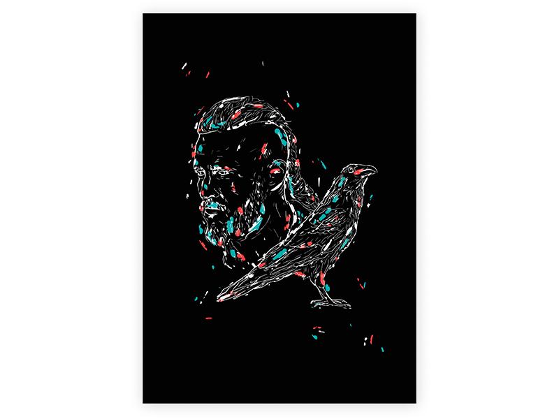 Vikings Poster // Ragnar Lodbrok by Alex Escu on Dribbble