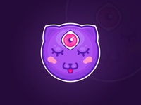 Nyan Dribbble sticker.