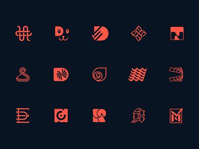 Logos & Marks Collection logo pup escu alex symbol minimalism mark logotype vocal v