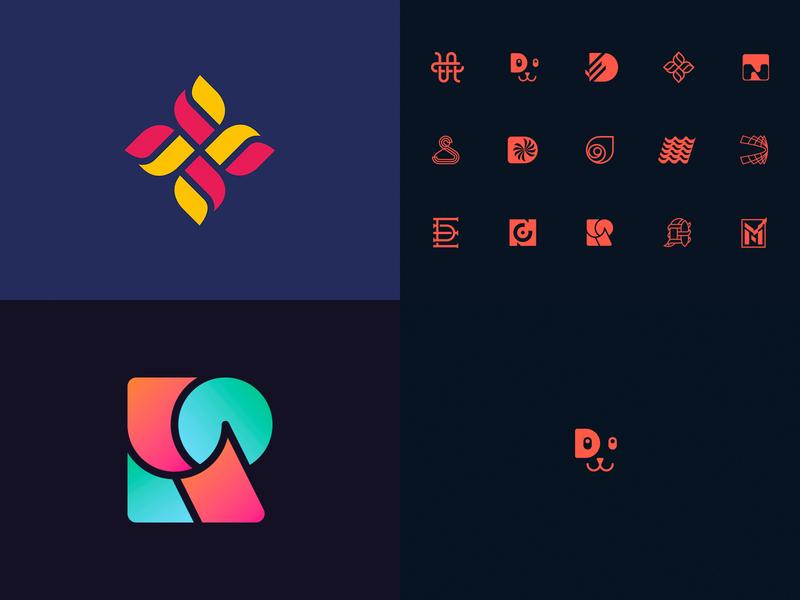 2018 logo mark branding monogram illustration art minimalism escu alex symbol logotype