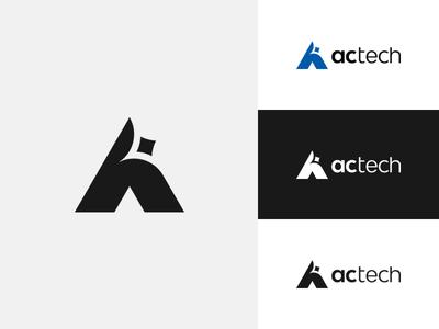 AC-Tech Brand Identity mark symbol identity branding identity design design branding logo alex escu escu alex minimalism logotype