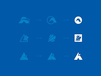 Logo sketching process design logo process star logo ac logo a monogram logo branding minimalism mark symbol escu alex logotype