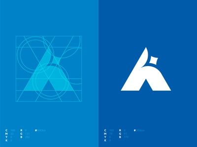 AC-Tech Brand Identity typography design monogram star logo branding symbol logo alex escu mark logotype minimalism