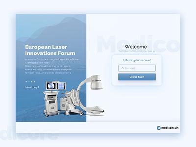 Mediconsult-ipad health blue ipad