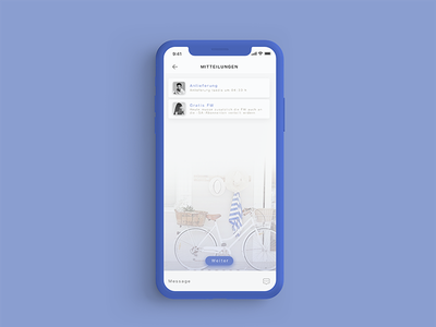 Paper-Boy app bicycle delivery blue ios