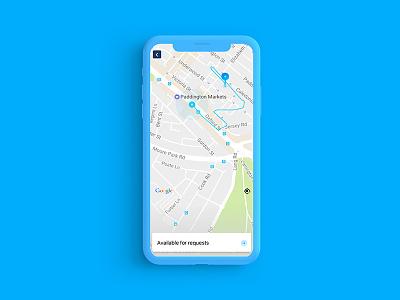 Carpool-Driver app map car blue ios