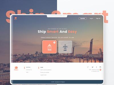 Shipco funny illustration design-ui-ux web app website