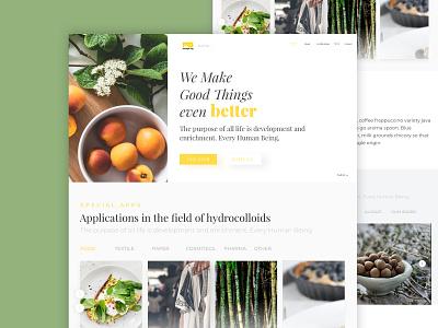 Polygal Website clean white minimal agency uxdesigner uidesigner design-ui-ux food web