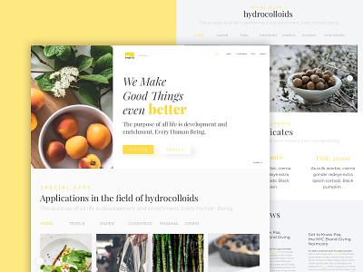 Polygal ux designer web minimal food clean agency