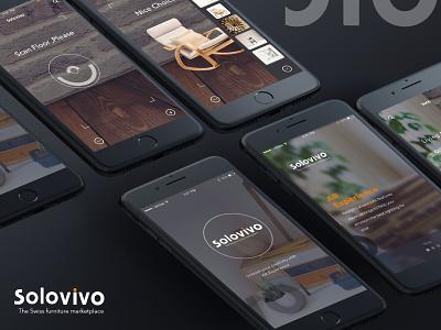 Solovivo darktheme minimalism clean android mobile design-ui-ux ios