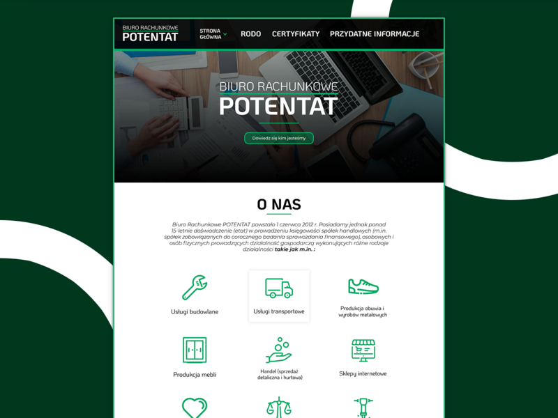 Potentat Accounting Office Web Page