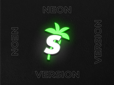 Sunesco Neon Version neon party beer food sand restaurant branding restaurants restaurant bar brand identity summer palm beach logo icons green branding brand design