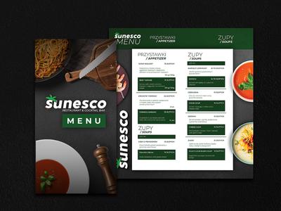 Menu for Restaurant Sunesco