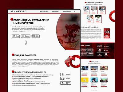Gamedec Games University dragon tabletop games red uxdesign user interface ux ui interface graphic illustrator photoshop desktop clean webpage webdesign office design