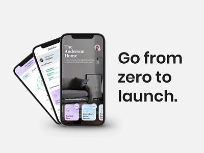 Go From Zero to Launch development startup ui health analytics data design system agency mobile design