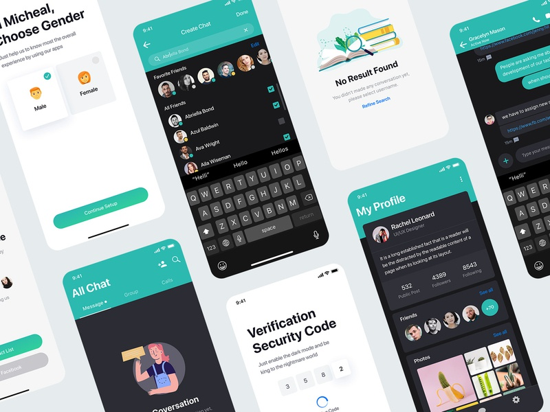Sophie Messaging app ui kit freebie sourabh freebie free download unlimited behance case study project web website webdesign ui ux user kit social media network minimal clean modern message conversation text iphone x ios android interface experience illustration screen blank design application app mobile chat profile