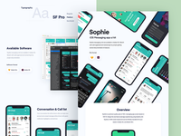 Sophie app case study live on BEHANCE