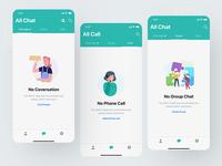 Messaging app empty states